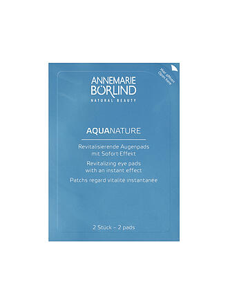 BÖRLIND | AQUANATURE Revitalisierende Augenpads mit Sofort-Effekt 6x2 Stk. | transparent