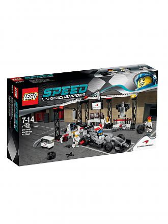LEGO | ADVENTURE - Speed Champions-Mc Laren-Mercedes Boxenstopp | transparent