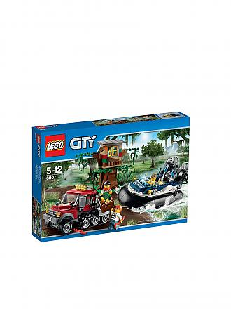 LEGO | CITY - Verbrecherjagd im Luftkissen-Boot | transparent