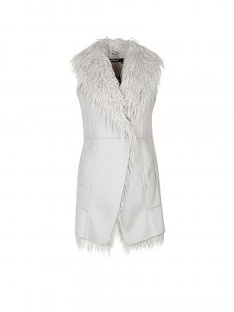 MARC AUREL | Gilet in Felloptik | grau