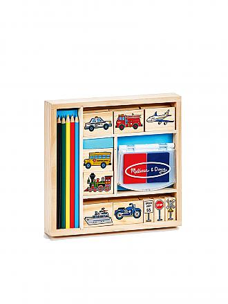 MELISSA & DOUG | Vehicle Holz-Stempel-Set | transparent