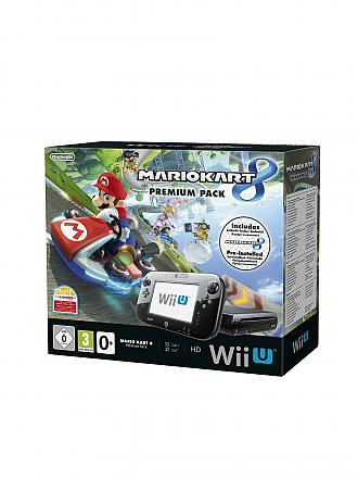 NINTENDO WII U | Konsole inkl. Mario Kart 8 Pack - Special Edition | transparent