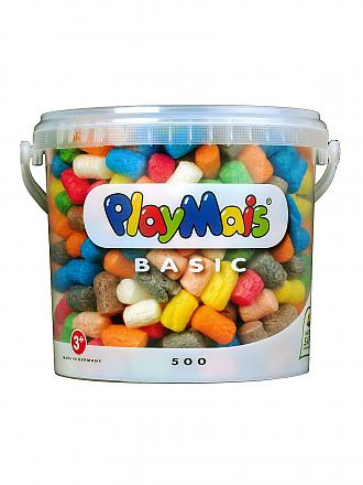 PLAYMAIS | PlayMais Basic Eimer (500 Teile) | transparent