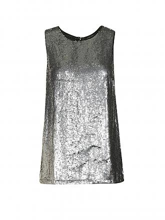 TWIN-SET | Top | silber