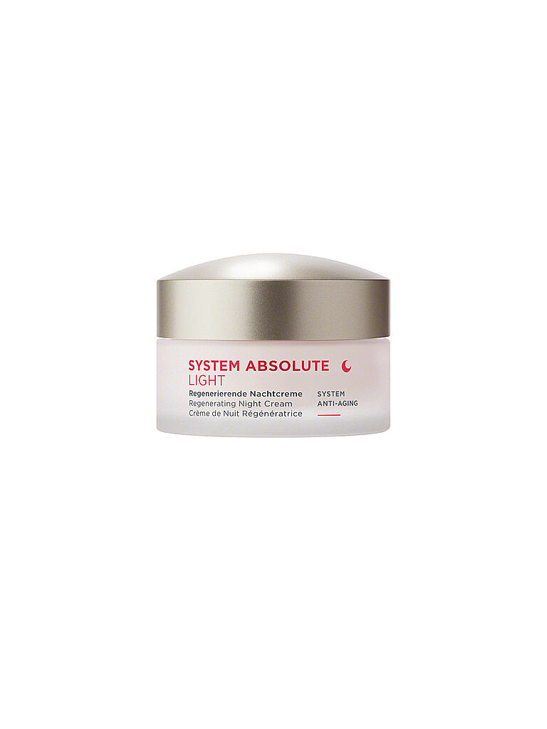 ANNEMARIE BÖRLIND | SYSTEM ABSOLUTE - System Anti-Aging - Nachtcreme light 50ml | transparent