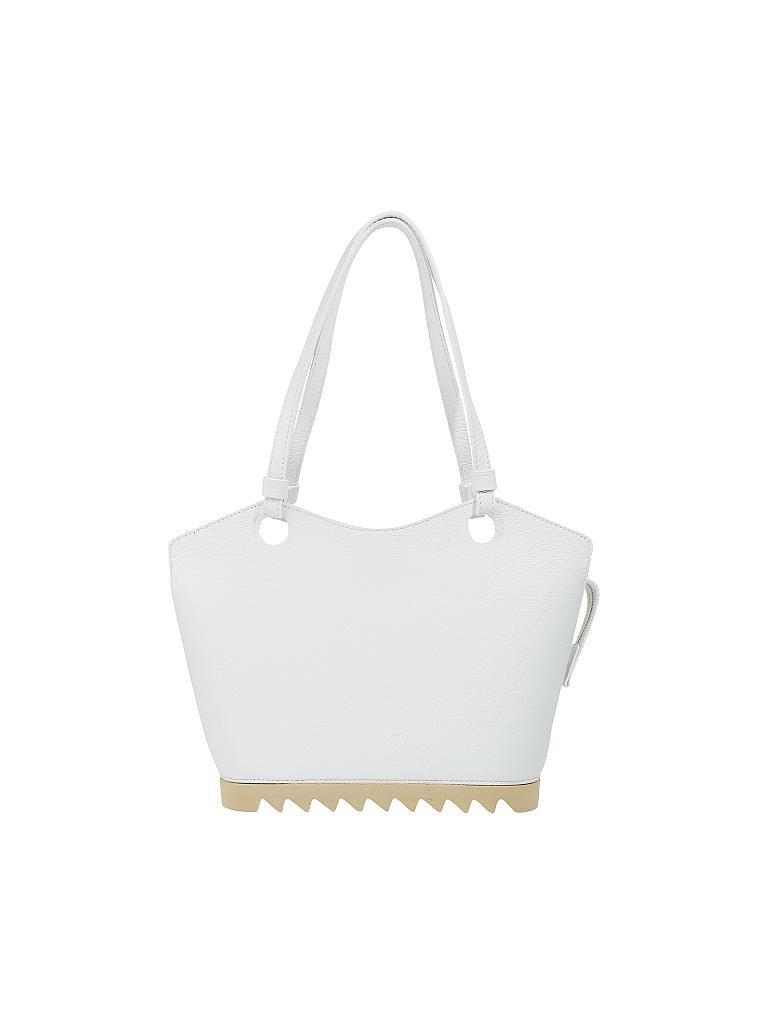 6ef843dfde968 ARCADIA Ledertasche - Handtasche weiß