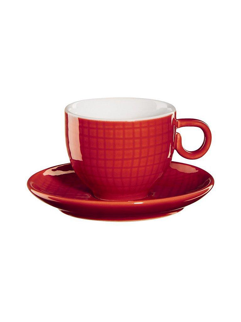 ASA Espressotasse mit Unterteller Voyage 0,08l (chilli) rot