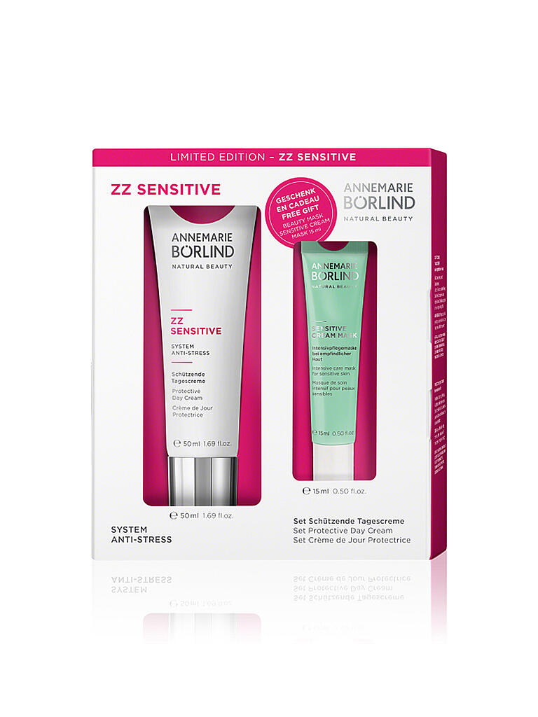 BÖRLIND | ZZ Sensitive System Anti-Stress Set Schützende Tagescreme | transparent