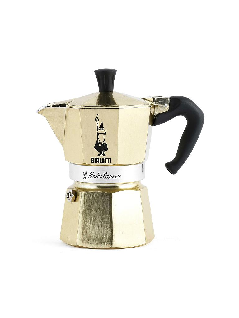 bialetti kaffeebereiter moka express 6 tassen gold. Black Bedroom Furniture Sets. Home Design Ideas