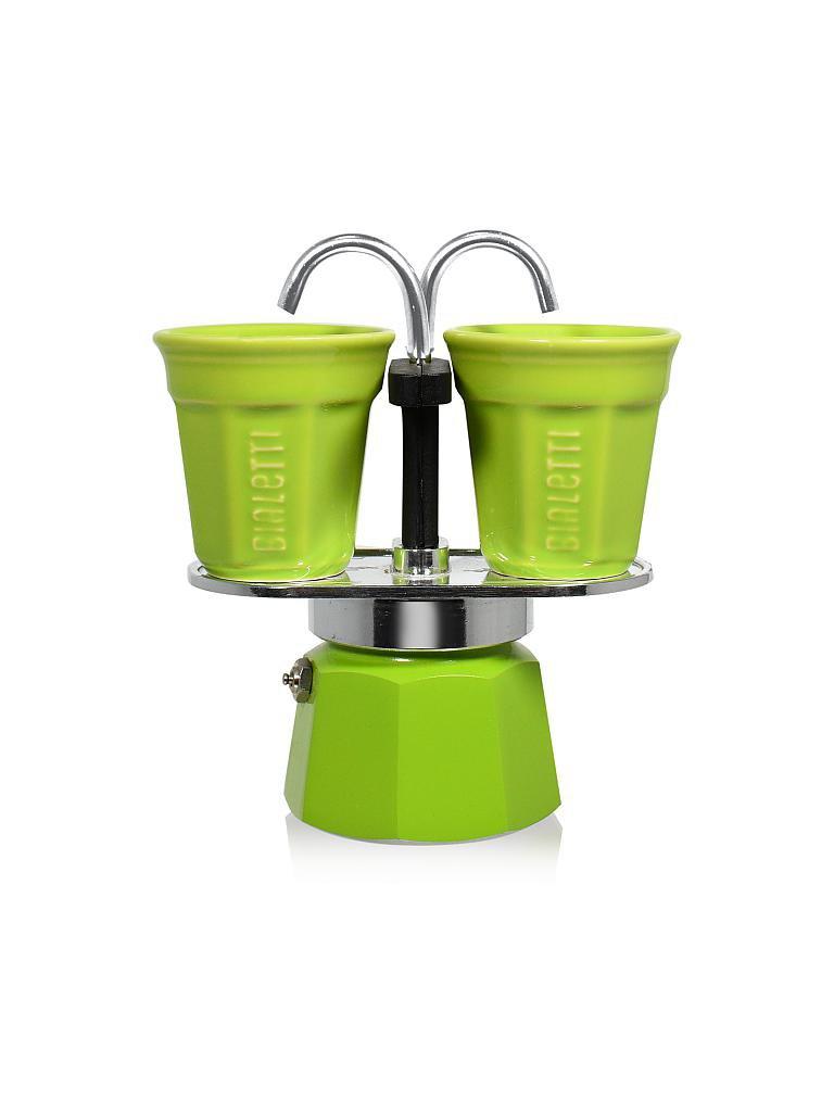 bialetti mini express inklusive 2 tassen gr n. Black Bedroom Furniture Sets. Home Design Ideas