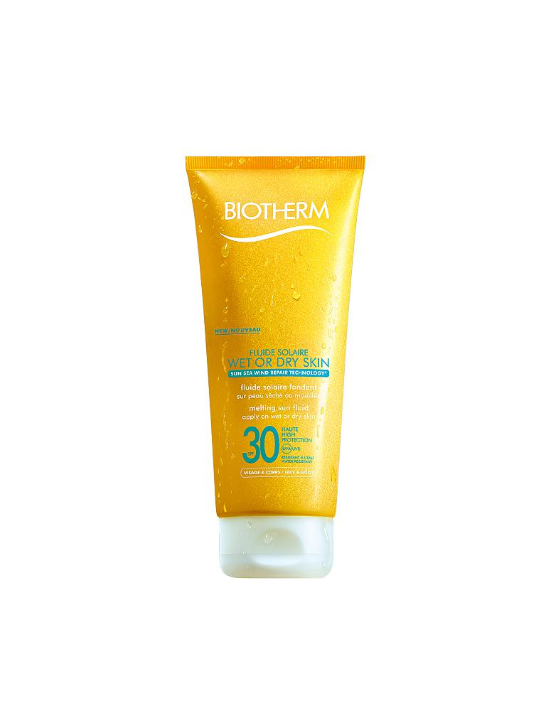 BIOTHERM | Fluide Solaire Wet Or Dry Skin LSF 30 200ml | transparent
