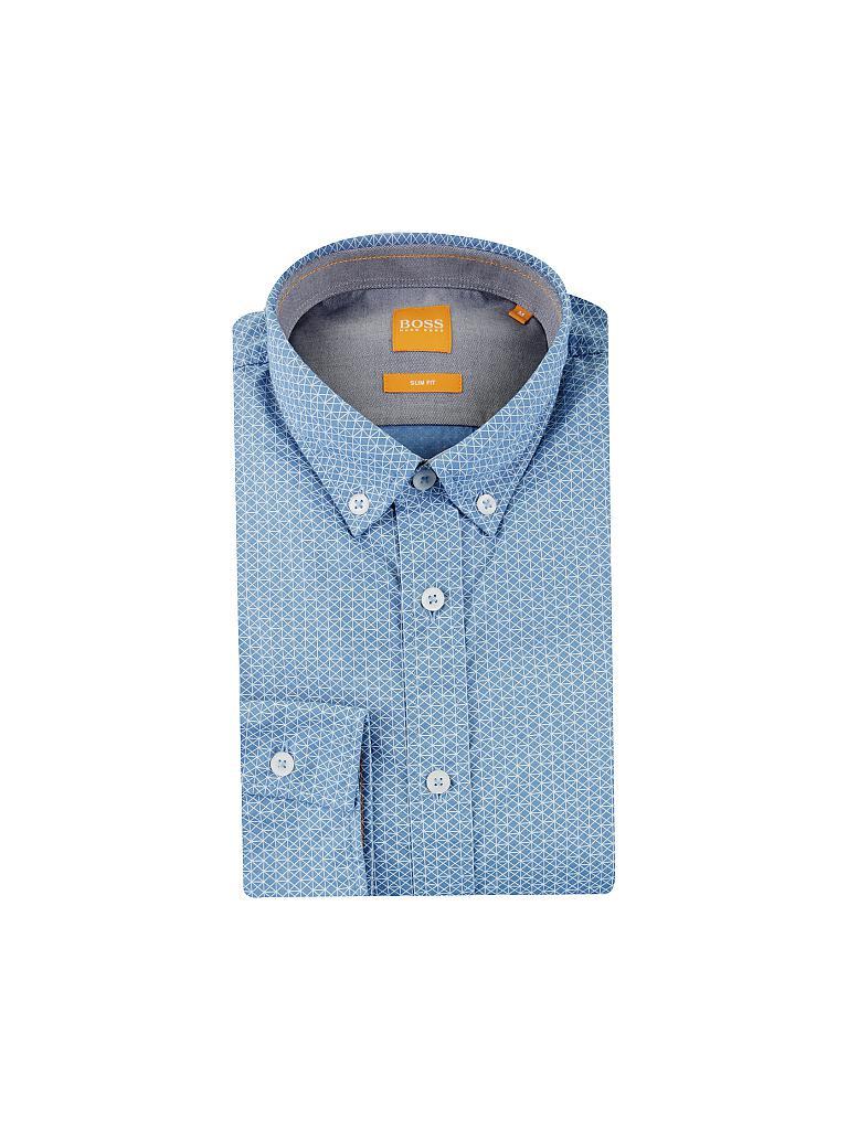 boss orange hemd slim fit edipoe blau s. Black Bedroom Furniture Sets. Home Design Ideas