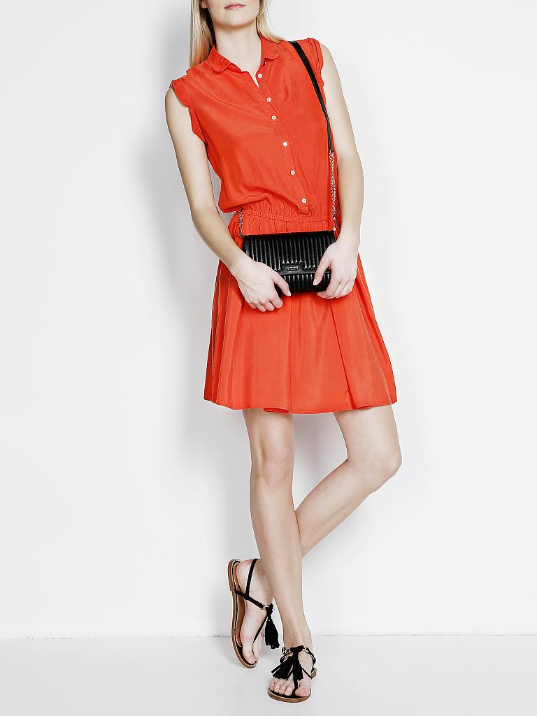 Kleid seide orange