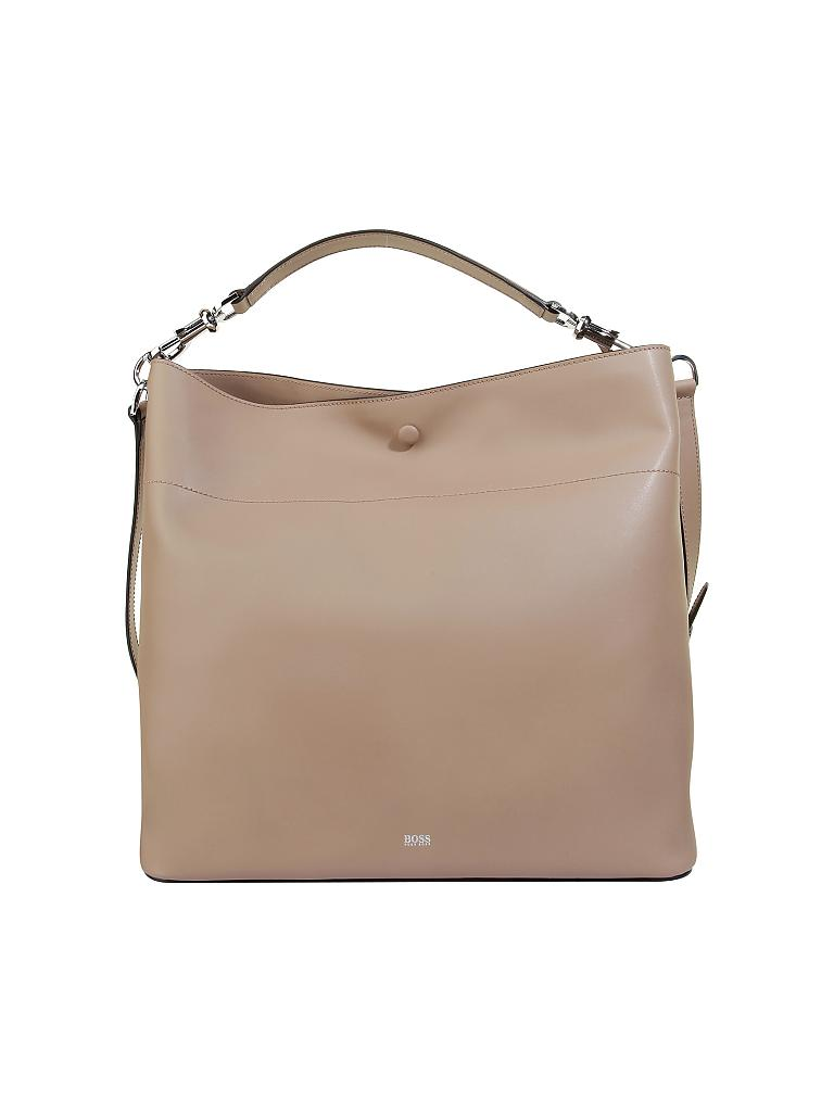BOSS | Ledertasche - Hobo | beige