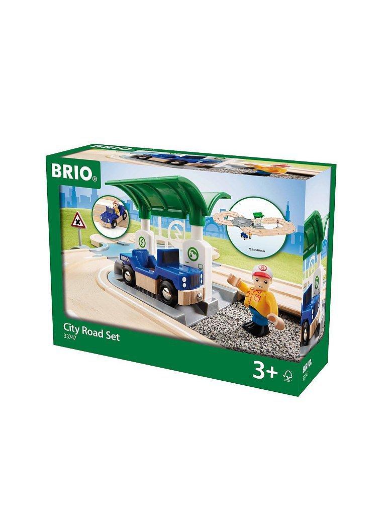 BRIO Straßen-Set mit Kreisverkehr