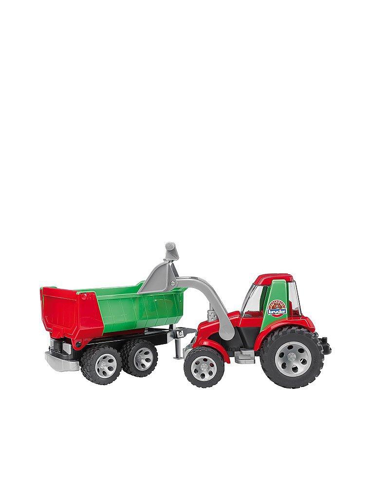 BRUDER Roadmax Traktor mit Frontlader und Kippanhänger