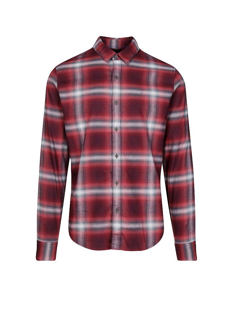 calvin klein jeans hemd rot s. Black Bedroom Furniture Sets. Home Design Ideas