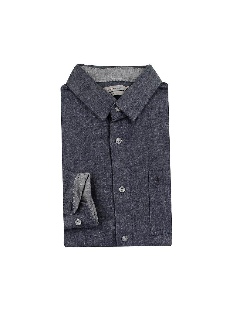 calvin klein jeans hemd blau s. Black Bedroom Furniture Sets. Home Design Ideas