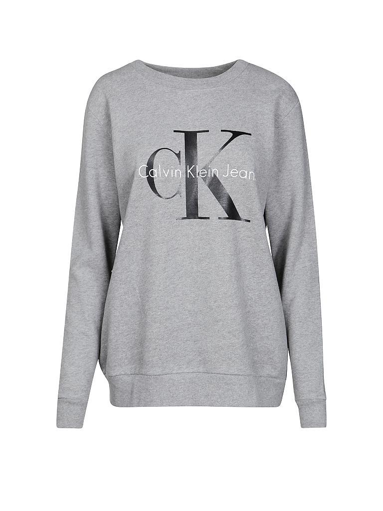 calvin klein jeans sweater oversized fit grau m. Black Bedroom Furniture Sets. Home Design Ideas