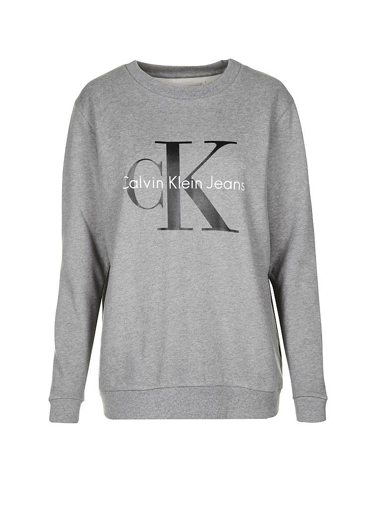 calvin klein jeans sweater grau xs. Black Bedroom Furniture Sets. Home Design Ideas