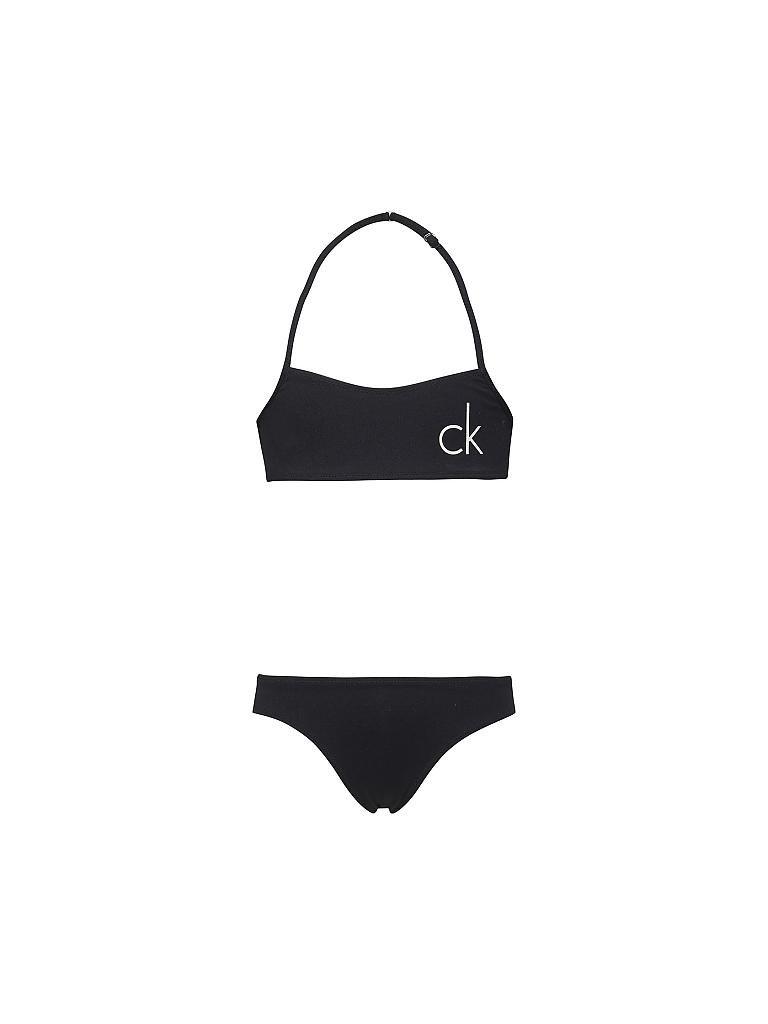 calvin klein bandeau bikini schwarz 128 140. Black Bedroom Furniture Sets. Home Design Ideas
