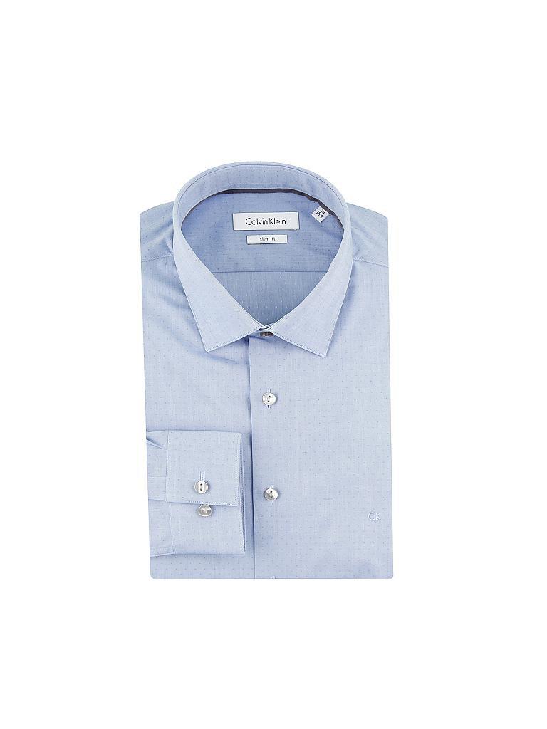 calvin klein hemd slim fit blau 39