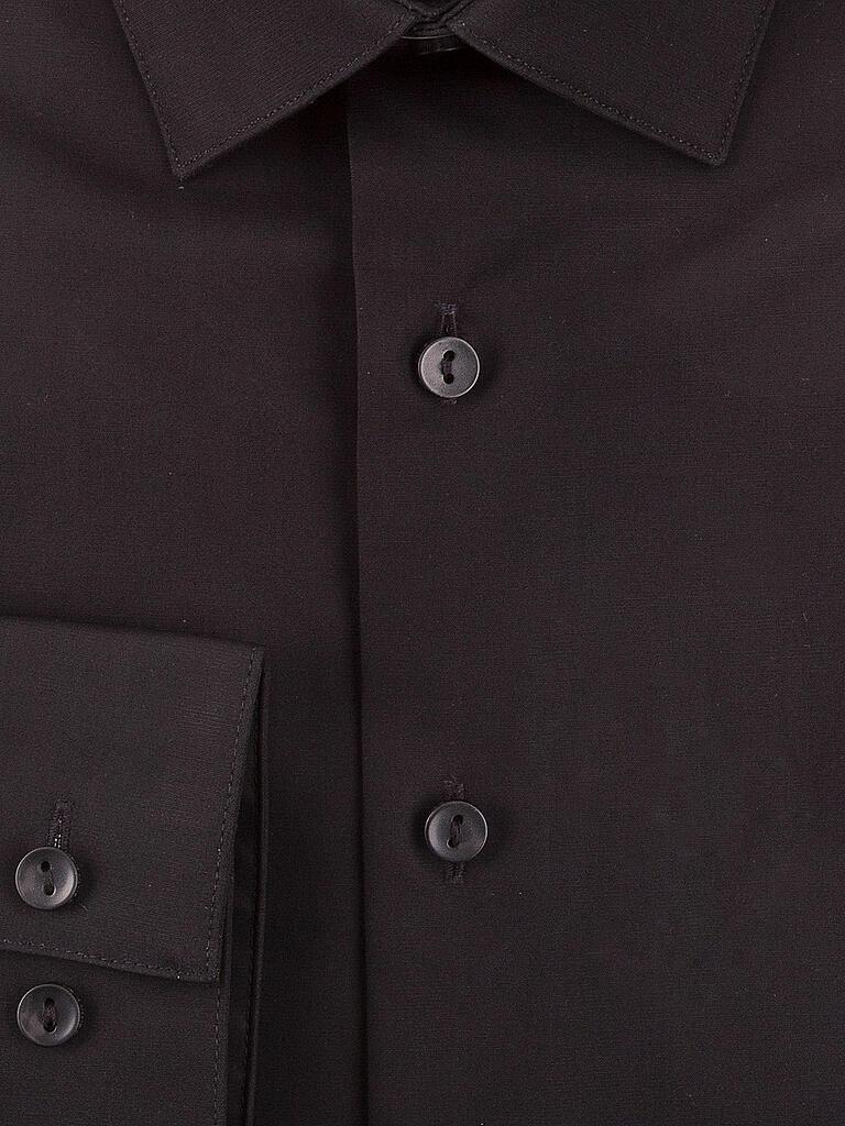 calvin klein hemd slim fit schwarz 38. Black Bedroom Furniture Sets. Home Design Ideas