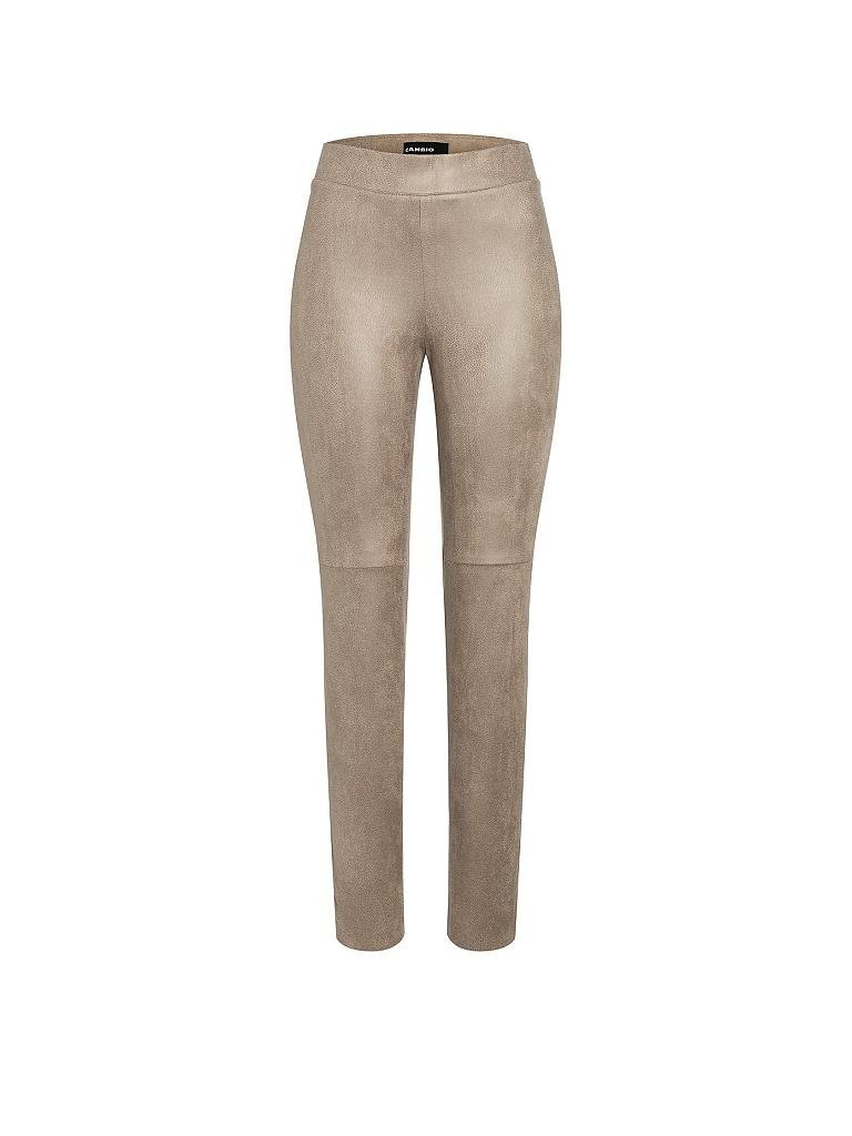 CAMBIO | Leggings in Lederoptik  | beige