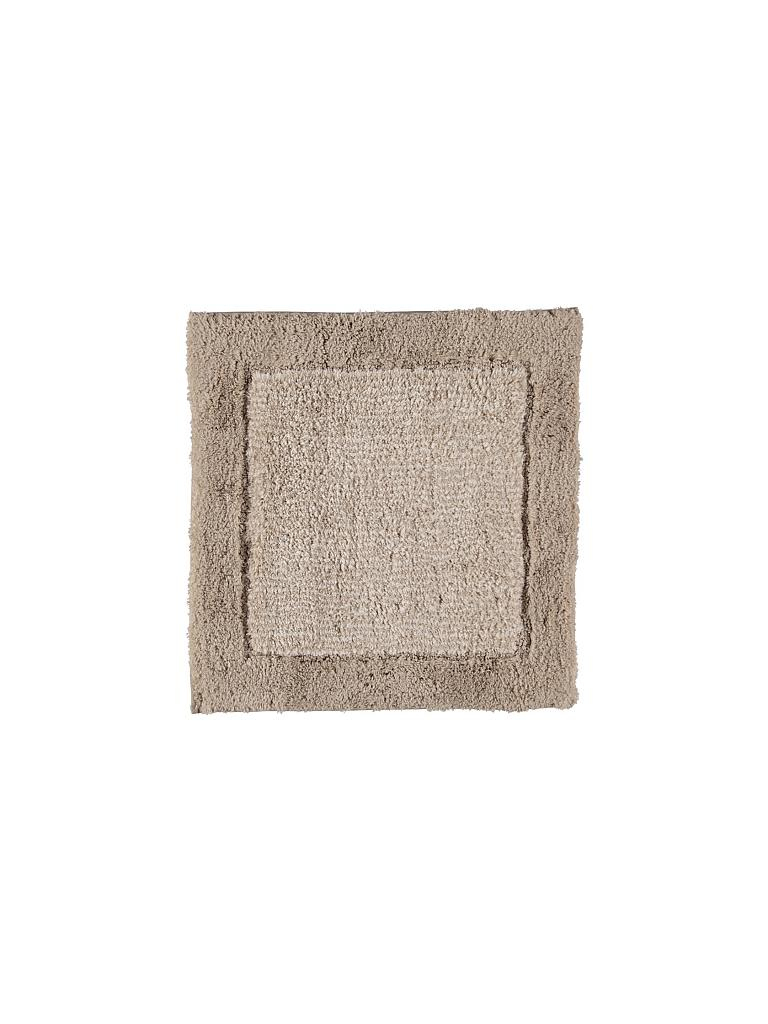 CAWÖ | Badteppich Luxury Home Two-Tone 590 60x60cm (Sand) | beige