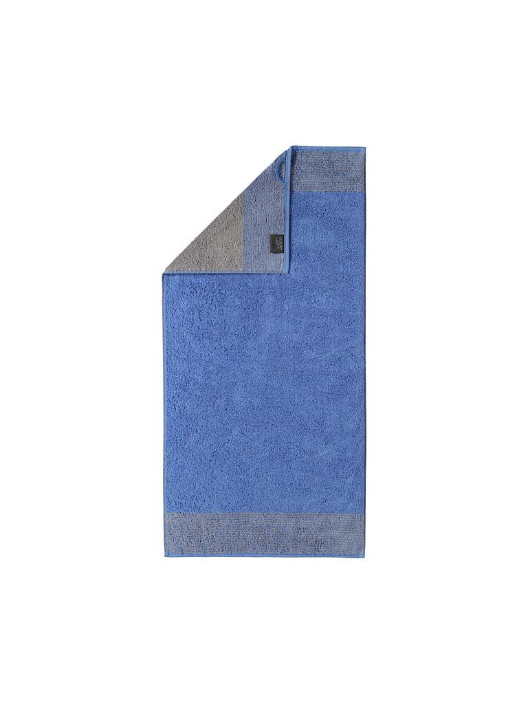 Cawö Handtuch Two Tone 50x100cm Blau Blau