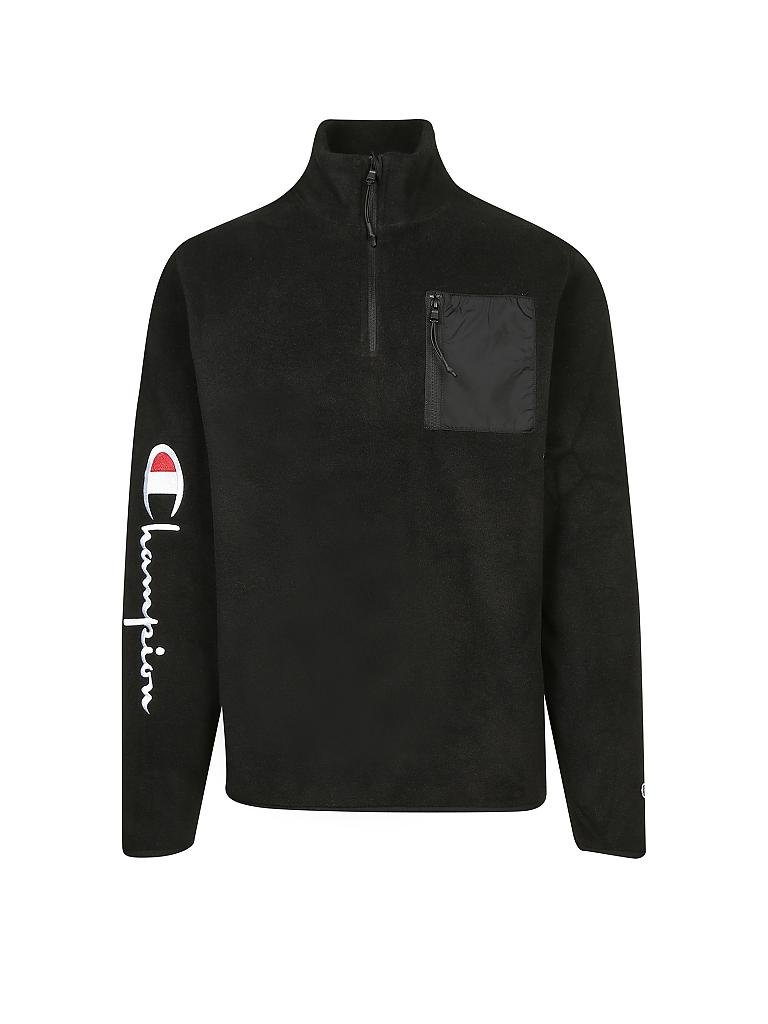 CHAMPION | Fleece-Sweater | schwarz