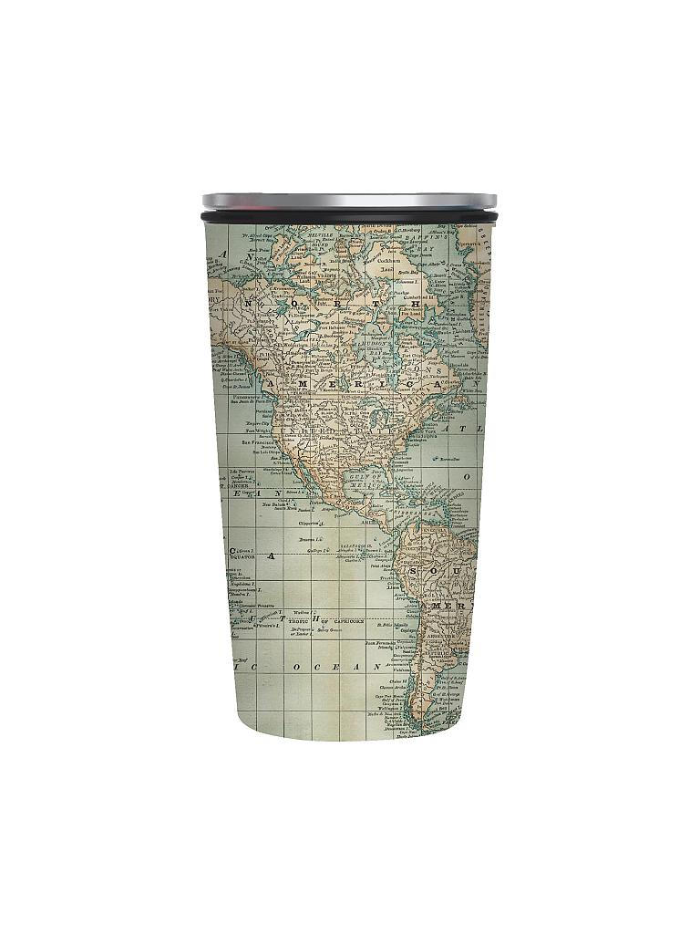 CHIC.MIC | Bamboo-Slide-Cup 400ml (Antique Map) | bunt