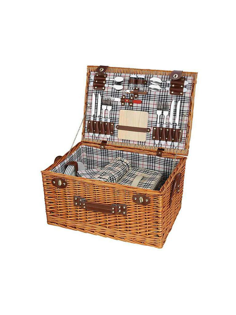 cilio picknickkorb dorio f r 4 personen braun. Black Bedroom Furniture Sets. Home Design Ideas