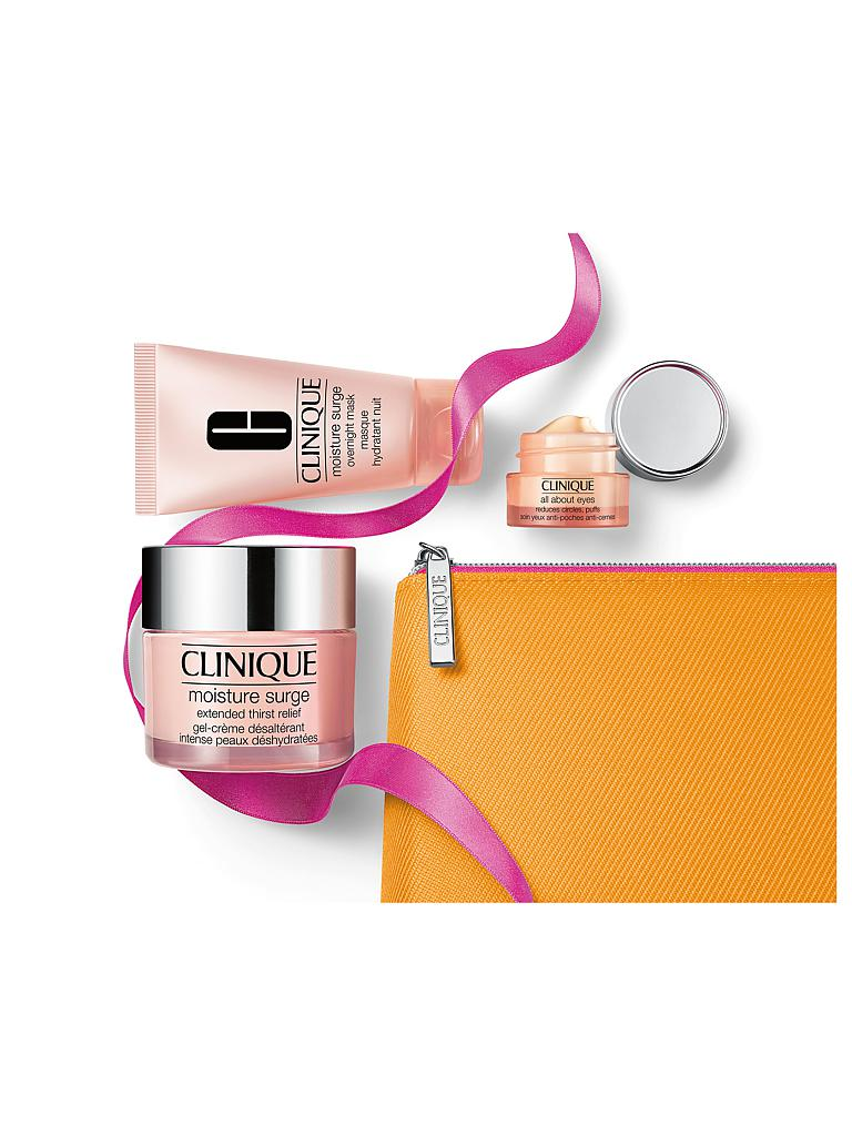 CLINIQUE | Gesichtspflegeset - Moisture Surge Extended 50ml mit Karton / Moisture Surge Overnight Mask 30ml / All About Eyes 5ml | transparent