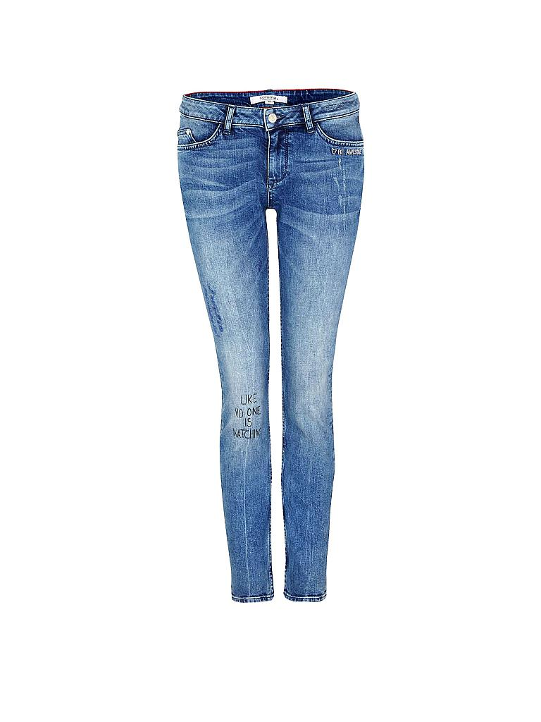 comma identity jeans mit statements slim fit. Black Bedroom Furniture Sets. Home Design Ideas
