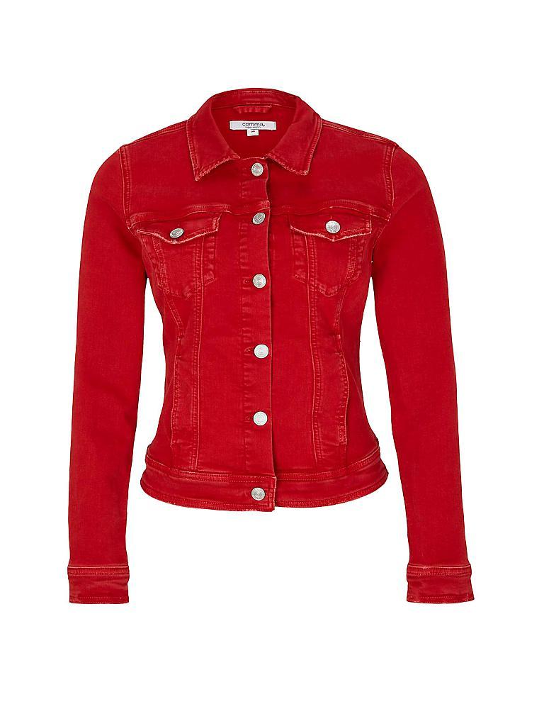 Jeansjacke mit rot