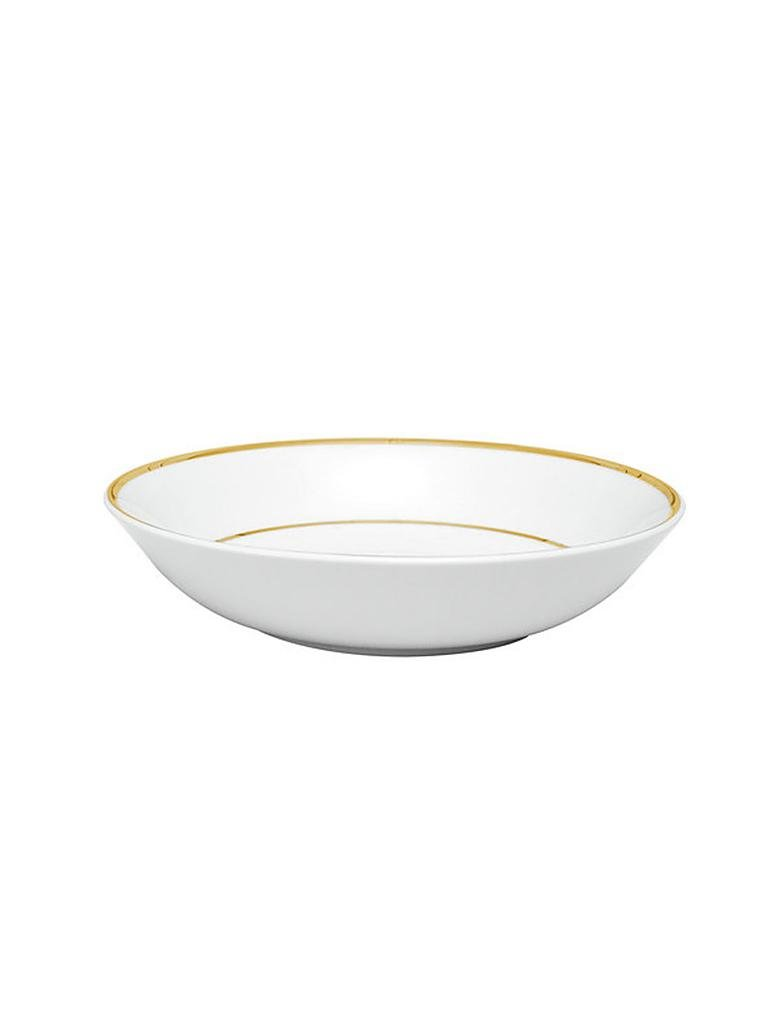 "COTE TABLE | Suppenteller ""Ginger"" 23cm (Weiss/Goldrand) 
