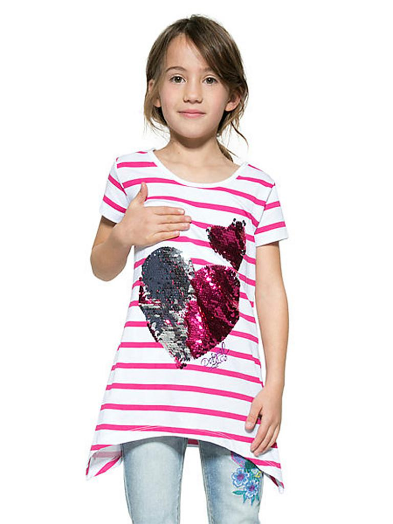 desigual m dchen t shirt mit wende pailletten pink 104. Black Bedroom Furniture Sets. Home Design Ideas