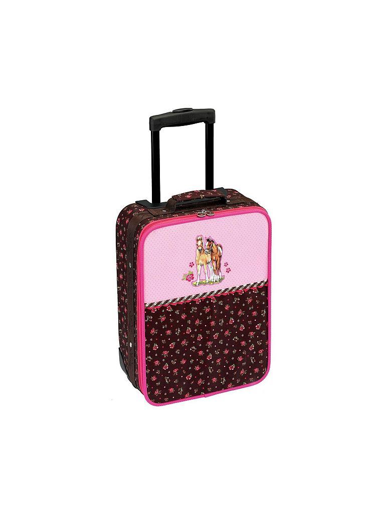 die spiegelburg pferdefreunde kleiner trolley rosa. Black Bedroom Furniture Sets. Home Design Ideas