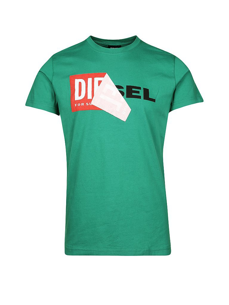 DIESEL T-Shirt grün | S