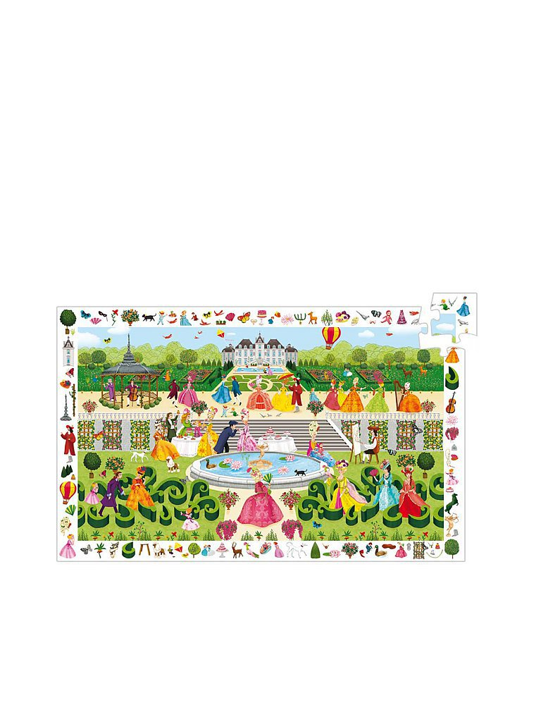 DJECO Entdecker-Puzzle Gartenparty (100 Teile)