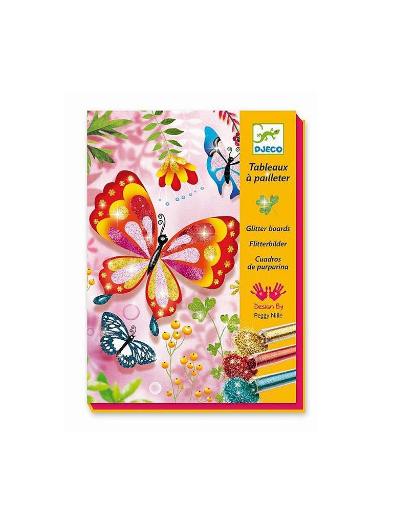 DJECO Bastel-Set - Flitterbilder - Glitter Butterflies