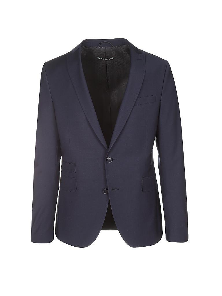 drykorn anzug slim fit 3 tlg moore blau 44. Black Bedroom Furniture Sets. Home Design Ideas