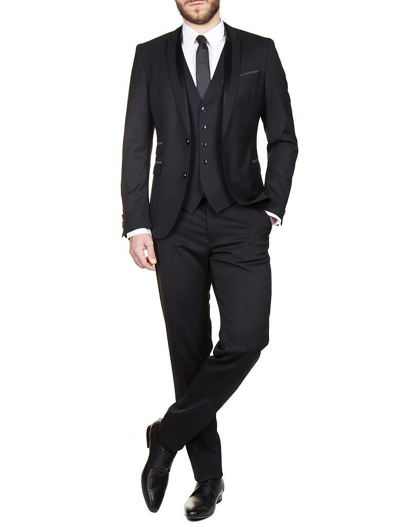 drykorn smoking anzug lancas 3 tlg schwarz 44. Black Bedroom Furniture Sets. Home Design Ideas