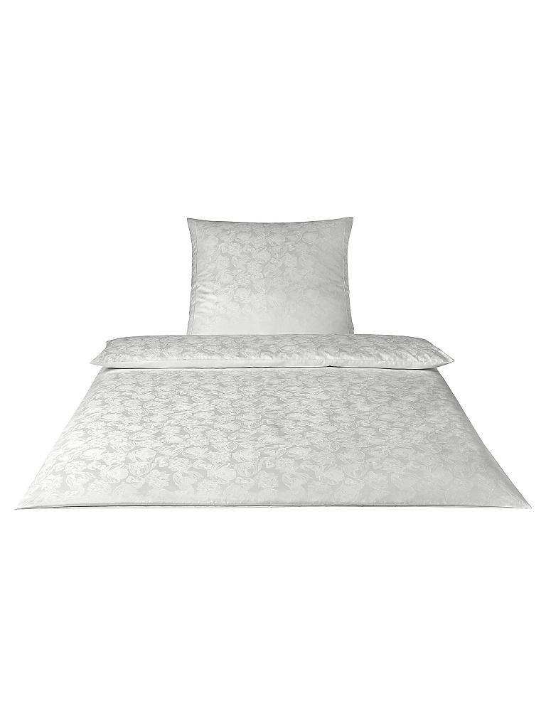 Elegante Damast Bettwäsche Grace 70x90cm140x200cm Weiß