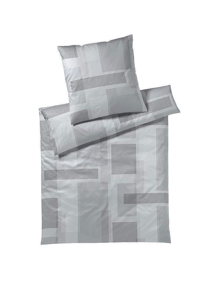 elegante jersey bettw sche garnitur dots 70x90cm 140x200cm kohle grau. Black Bedroom Furniture Sets. Home Design Ideas
