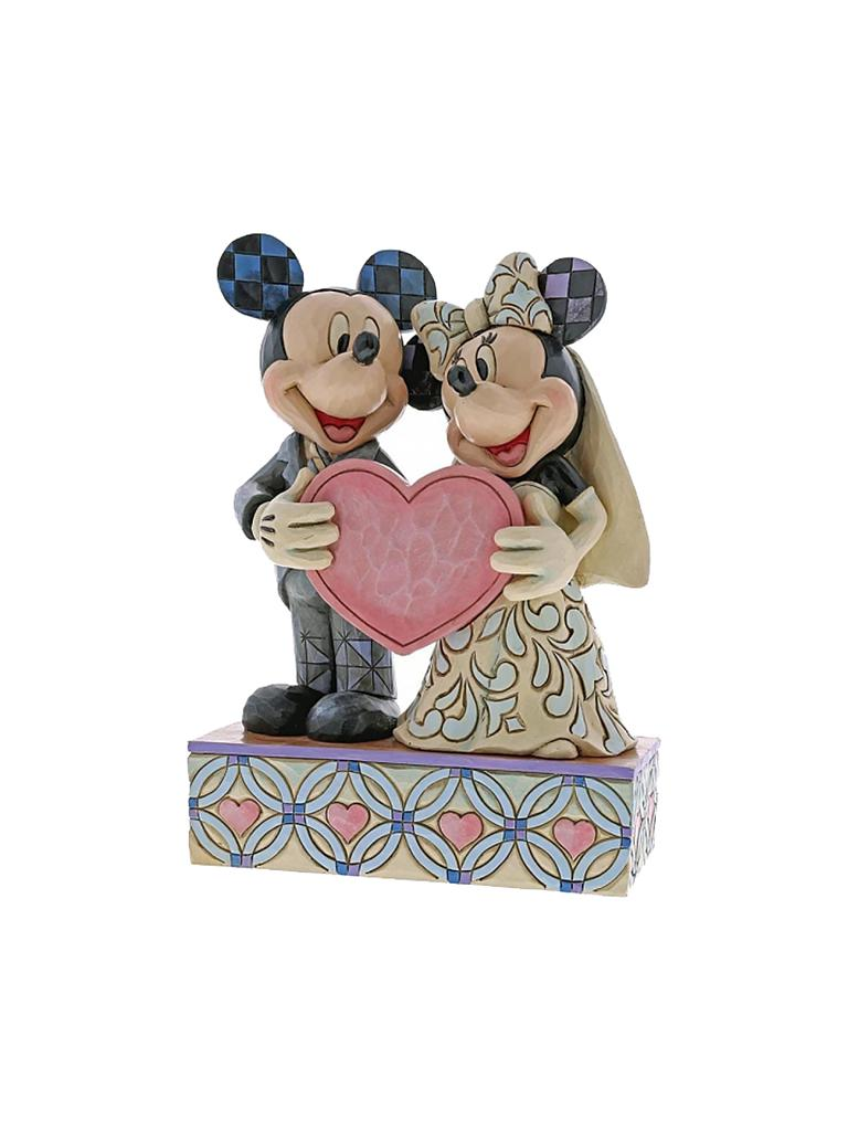 ENESCO | Two Souls One Heart - Mickey Mouse und Minnie Mouse Figurine 4059748 | transparent