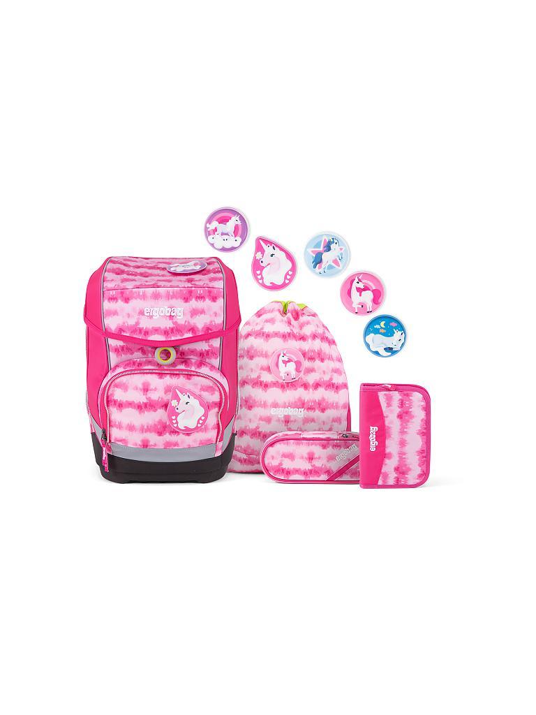 ergobag pack Schulrucksack-Set 6-teilig ZauBärwatte PINKY Edition
