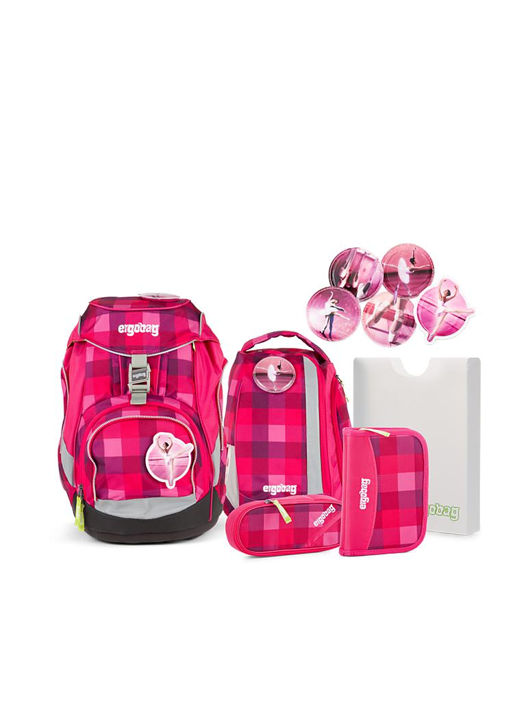 ergobag schultasche set 6 tlg rhabarb r pink. Black Bedroom Furniture Sets. Home Design Ideas