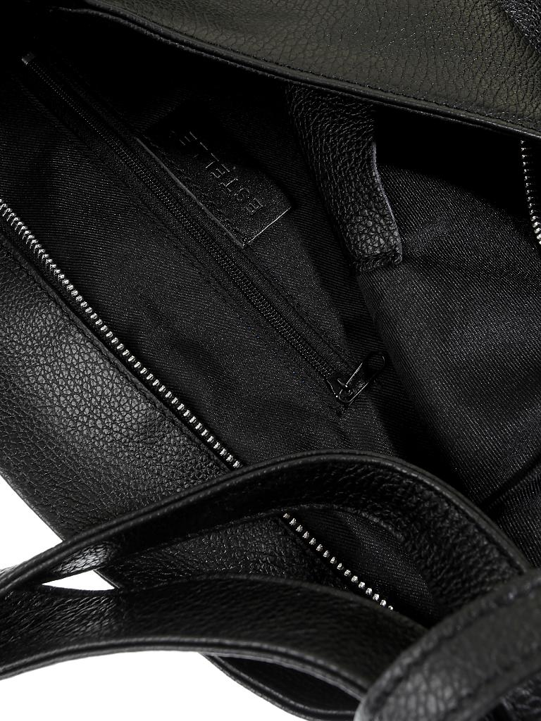 21f006f445539 ESTELLE Ledertasche - Shopper schwarz
